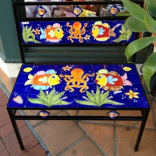 Parrucca Tile Bench - Fish and Octopus design