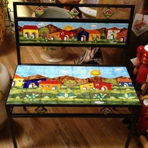 Parrucca Tile Bench - Village design